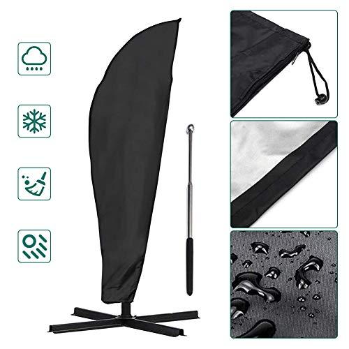COSANSYS - Custodia protettiva per ombrellone, impermeabile, con asta telescopica, 70 x 50 x 40 cm, colore: Nero