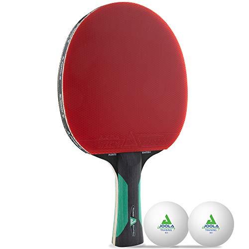 JOOLA Tischtennis-Set ROSSKOPF SMASH Tischtennisschläger Inklusive 2 Tischtennisbälle Mit ITTF Zulassung, 1,8 MM Schwamm