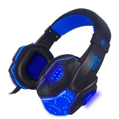 New Alician Headset Earphone Headphone with Microphone Control for Desktop Computer Gaming Laptops B...