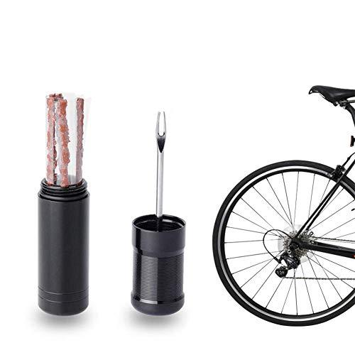 ZOOENIE Tubeless Bike Reifen Reparatur Kit, Fix Fahrrad Tubeless Reifen Punctures schnell, Flache Reifen Reparatur Kit mit 5 Reifen Streifen Stecker für Mountain Road Bike Radfahren