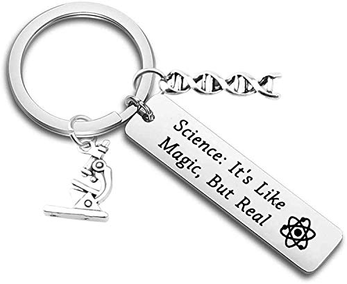 Science Gift It's Like Magic,But Real keychain Science Teacher Gift Biologist Graduation Gift (Science Magic)