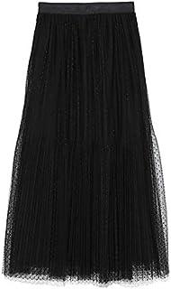 [ミラ オーウェン] スカート チュールプリーツスカート 09WFS191063