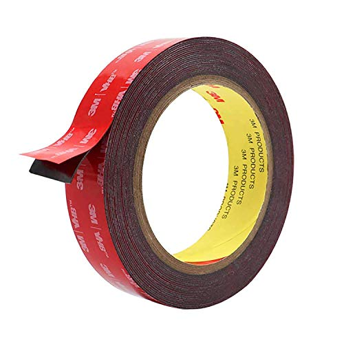 Double Sided Tape, HitLights Mounting Tape Heavy Duty, Waterproof Foam Tape, 16FT Length, 0.94 Inch Width for Car, LED Strip Lights, Home Decor, Office Decor, Made of 3M VHB Tape