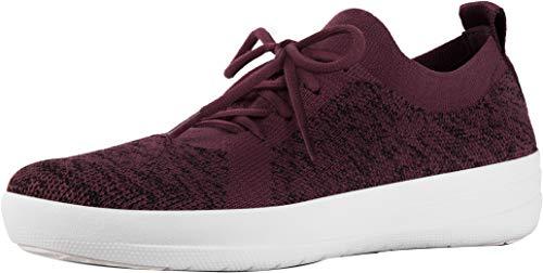 FitFlop Womens F-Sporty Uberknit Sneaker Shoes, Deep Plum Mix, US 7