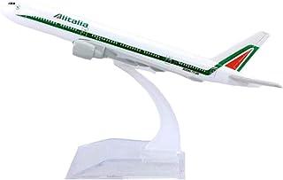 飛行機モデル1:400アリタリアイタリア飛行機ボーイングB777-200モデルおもちゃ合金航空機飛行機旅客機ディスプレイギフトコレクション(飛行機モデル装飾おもちゃ)