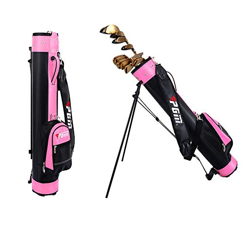 Waterproof Portable Golf Stand Bag, Light Standing Golf Bag Club Sunday Travel Bag, Can Hold 9 Clubs, Men's and Women's Golf Practice Bag Handbag