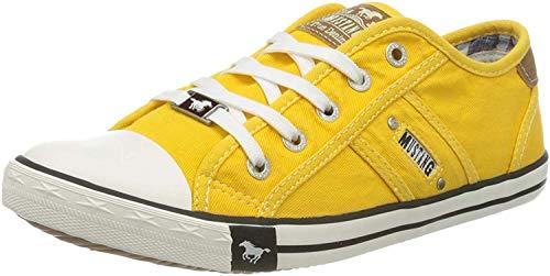 MUSTANG Damen 1099-302-6 Sneaker, Gelb (Gelb 6), 40 EU