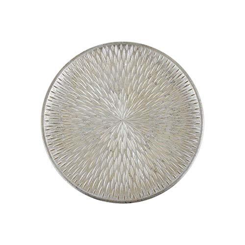 Objektkult Deko-Teller Holz Natur mit Glitzer, Holzteller, Weihnachtsteller, Durchmesser 49 cm, wunderschöner Teller für stimmungsvolle Deko oder als Unterlage für den Adventskranz oder Keksteller