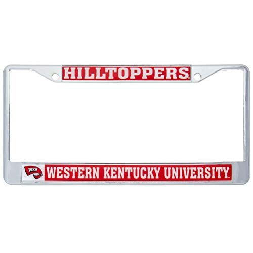 Western Kentucky University Hilltoppers Metal License Plate Frame for Front Back of Car Officially Licensed (Mascot)
