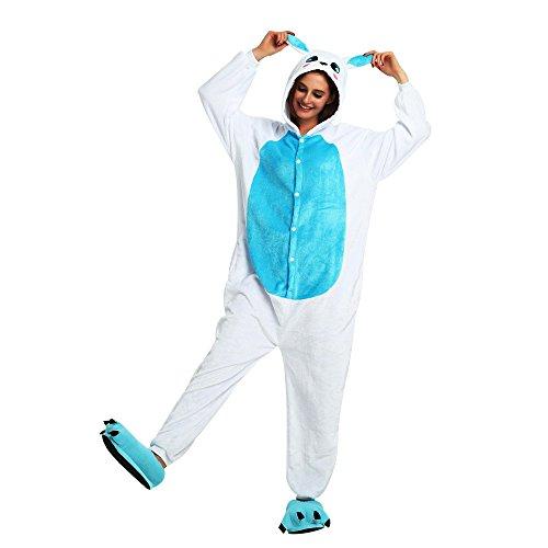 Crazy lin Unicorn Karikatur Overalls Pyjama Nachtwäsche Nacht Kleidung Dress Up, Maskerade Partei Kostüme (M, Blaues Kaninchen)
