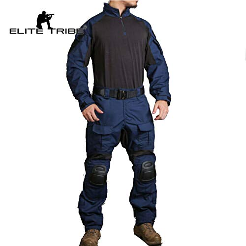 Elite Tribe Emerson Blue Label G3 Combat Uniform Military Tactical Uniform Mens Duty Navy (S)