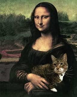 Mona Lisa and Cat Art Print on Canvas