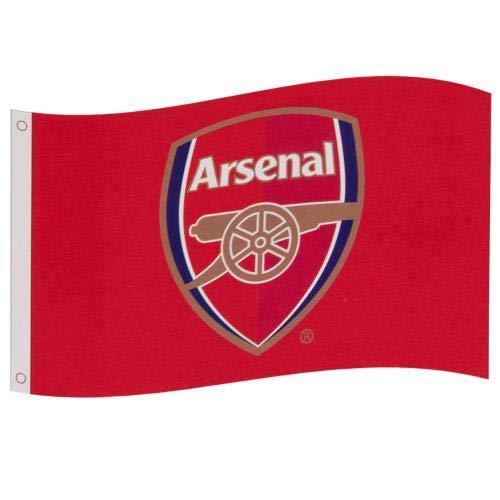 Arsenal F.C.. Flagge CC, offizieller Merchandise-Artikel.