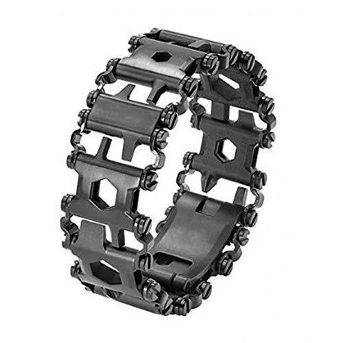 OutKeeper Multifunction Tread Bracelet Stainless Steel (Black)