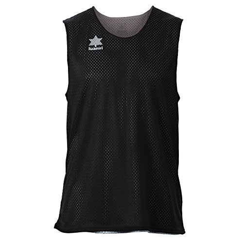 Luanvi Triple Camiseta Reversible Deportiva, Hombre, Negro/Blanco, XL