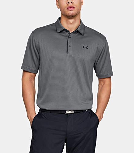 Under Armour Tech Polo Camiseta Deporte para Hombre, color grafito/negro, talla X-Grande