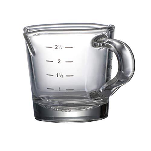 Tixiyu - Vaso medidor para espresso con 2 boquillas, fabricado en vidrio...