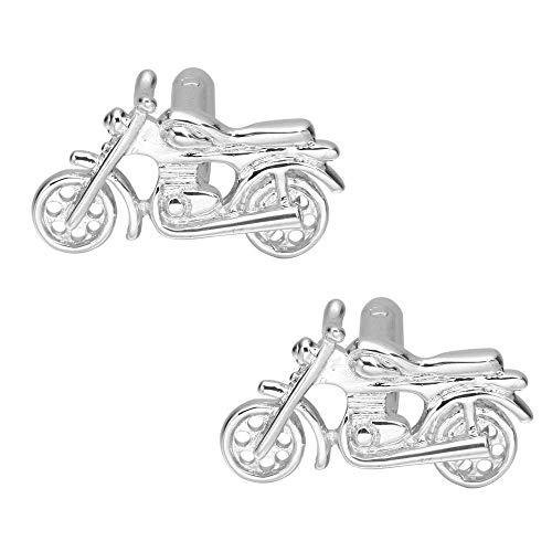 WOHAO Hemd Manschettenknöpfe Herren Manschettenknöpfe Französisch Manschettenknöpfe Cuff Cuff Nägel Herren Manschettenknöpfe Manschettenknöpfe Transport-Silber-Schwarz-Motorrad