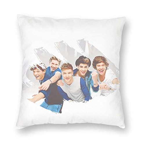 N / A One Direction - Funda de cojín para sofá de tela de peluche, producto principal cómodo y suave para el salón