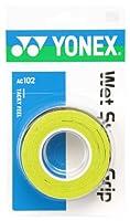 ヨネックス(YONEX) テニス バドミントン グリップテープ ウェットスーパーグリップ (3本入り) AC102 シトラスグリーン