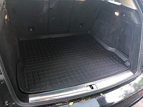 Rear Trunk Liner Tray Mat Pad for AUDI Q5 SQ5 2009 2010 2011 2012 2013 2014 2015 2016 2017 Floor Cargo Cover Protection Dirt Mud Snow All Weather Season Waterproof 3d Laser Measured Custom Fit