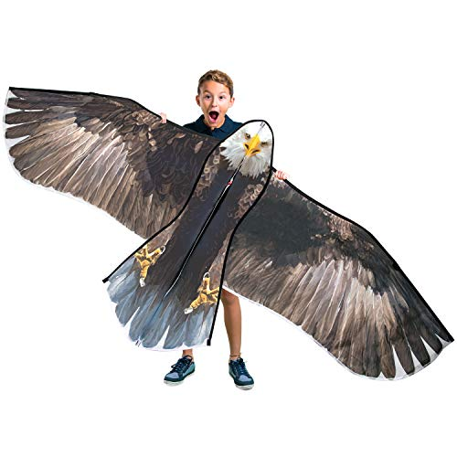 """JEKOSEN 70"""" Bald Eagle Huge Kite for Kids and Adults Single Line String Easy to Fly for Beach Trip Park Family Outdoor Games and Activities"""