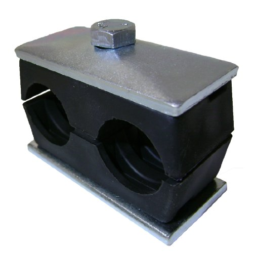 Behringer Twin Series Pipe Clamp, Polypropylene with Zinc-Plated Steel Hardware, Weld Mounting, 1/2