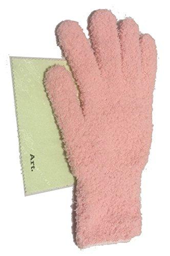 手袋タオル 日本製 ヘアドライ 手袋 マイクロファイバーグローブ 即乾 吸水 髪 ドライヤータオル ふわふわ 柔らか【Art.アートドット】 (1枚, ピンク)