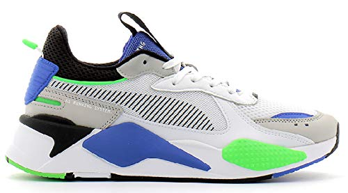 PUMA RS-X Toys Uomo Bianco/Nero/Blu Sneaker-UK 7 / EU 40.5