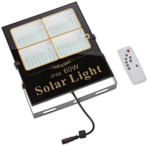 Proyector Led Solar Orientable Con Panel Solar Separado Y Mando A Distancia,...