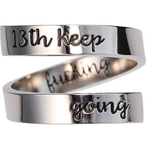 Suyi Anello Regalo di Compleanno per Ragazze Anello Personalizzato Regolabile Anello di Compleanno Gioielli Regali di 13 Anni per Lei 13th KFG