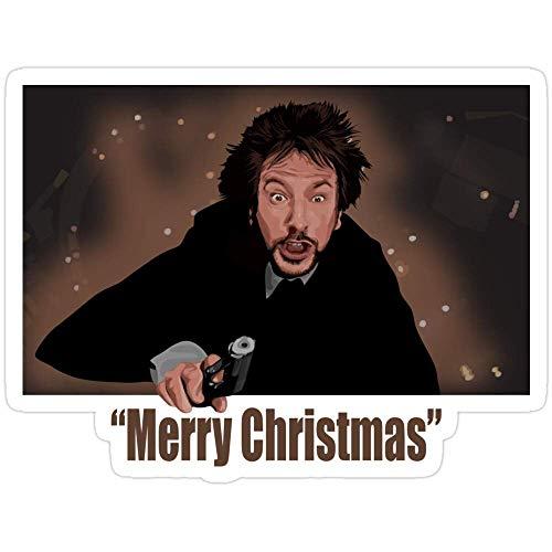 DKISEE 3 pegatinas de feliz Navidad amor de Hans Gruber para ordenador portátil, teléfono, coches,...