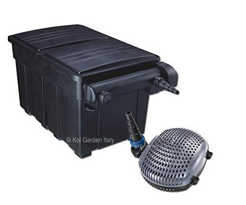 Vijverfilter 25000l - 36W UVC depurator - pomp 8000 liter/uur slechts 50 Watt - garantie Italië