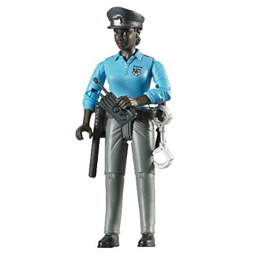 bruder 60431 - Minifigur - bworld Polizistin mit dunklem Hauttyp und Zubehör