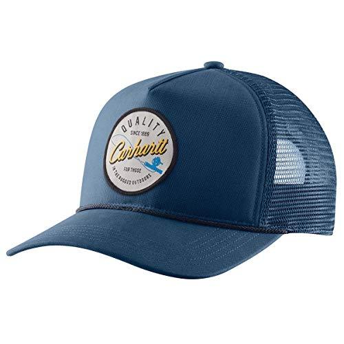 Carhartt Men's Force Mesh Back Graphic Cap, Dark Blue, OFA