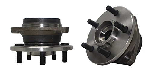 Detroit Axle - New (Both) Front Wheel Hub and Bearing Assembly Replacement for 1990 1991 1992 1993 1994 1995 1996 1997 1998 Jeep Cherokee Comanche Grand Cherokee TJ Wrangler