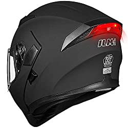ILM Motorcycle Dual Visor Flip up Modular Full Face Helmet