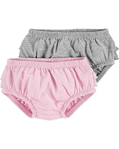Carter's Baby Girls' 2-Pack Bubble Shorts (12 Months, Grey/Pink)