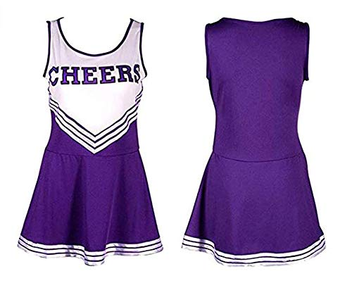 Ovender Cheerleader kostuum mini-jurk + pompon Fancy Dress High School carnaval Halloween Cosplay Party Ballo