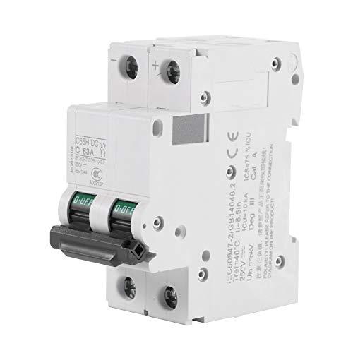 Interruptor automático - Interruptor de energía solar en miniatura de bajo voltaje de 1pc 250V DC 2P Interruptor de energía solar 16A / 32A / 63A (tamaño : 63A)