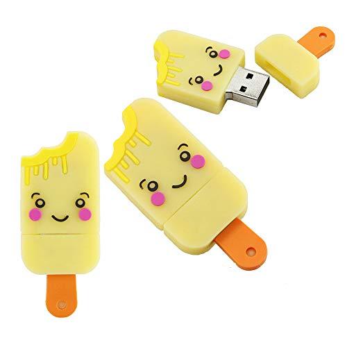 128GB gelato modello usb flash drive usb pendrive usb flash memory stick usb u disco usb chiavetta usb flash disk usb disco pen drive (Yellow)