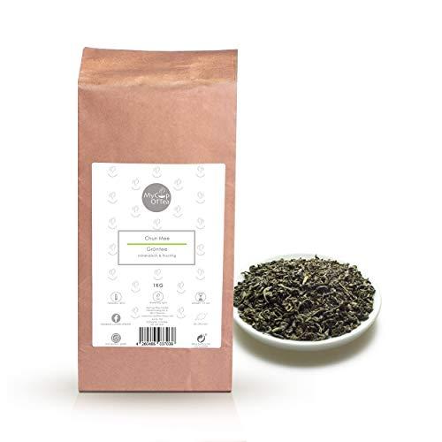 Chun Mee Bio-Tee 1000 g – Grüner Tee in Bio-Qualität aus China – Hochwertiger Grüntee aus ökologischem Anbau – Rauchig-Süß im Geschmack – Für Genießer und Tee-Kenner – MyCupOfTea