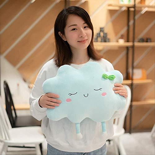 DOUFUZZ SNHPP Kreative Plüsch Spielzeug benutzerdefinierte Sonnenwolken halten Kissen Kindertag Geschenk Puppe Puppe Puppe Schleuder Urlaub Geschenk 50cm Blaue Wolken