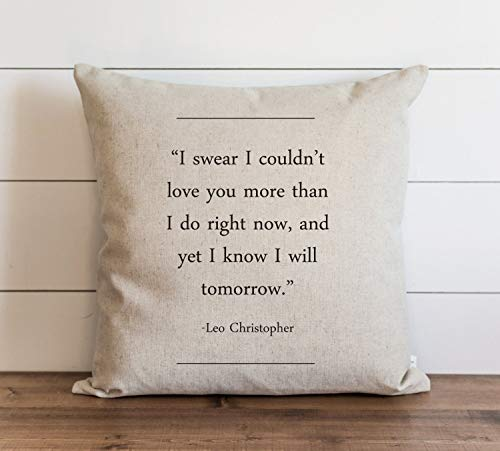 Book Collection Leo Christopher Pillow Cover Everyday Throw Pillow Gift Accent Pillow Cushion Cover Case Pillowcase with Hidden Zipper Closure for Sofa Home Decor 24 x 24 Inches