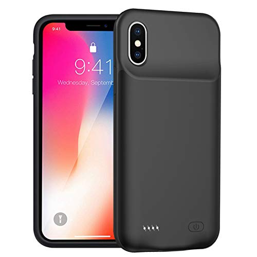 Battery Case for iPhone X/XS/10, Enhanced 7000mAh Protective Portable Charging Case Rechargeable Extended Battery Pack Compatible with iPhone XS/X/10 (5.8 inch) Charger Case (Black)