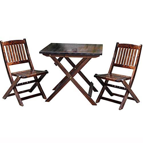 Combinación de mesa y silla para patio al aire libre, área de descanso, mesa y silla, mesa y silla de ocio, juego de muebles de jardín de tres piezas, mesa y silla de comedor para balcón, mesa y sil