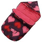 ZHANGXJ Universal Sacos de Abrigo Carritos Universal Saco de Silla Invierno Forro Polar Moda Térmica Windproof Adecuado para 99% Cochecito Silla de Paseo Sillas de Coche Viaje (Color : Rose Red)