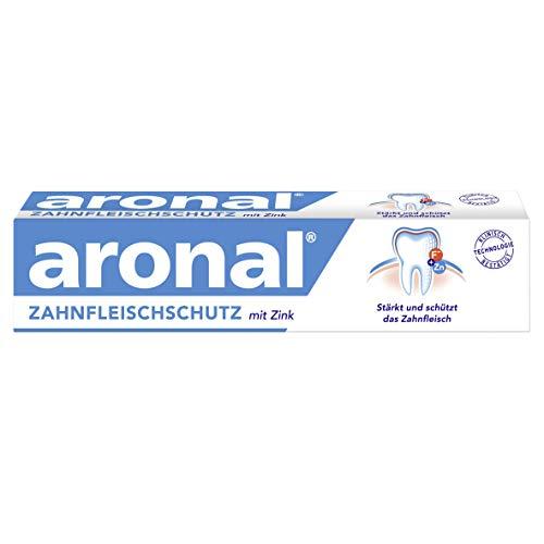 aronal Zahnpasta Zahnfleischschutz, 1 x 75 ml - Zahncreme stärkt und schützt das Zahnfleisch, schützt wirksam vor Karies