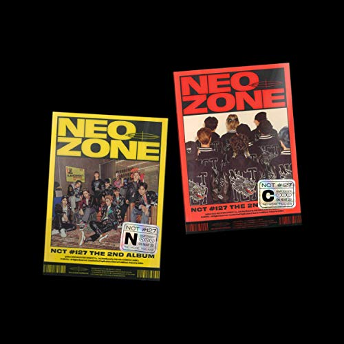 SM Entertainment NCT 127 NCT #127 Neo Zone - Juego de 2 álbumes y tarjetas fotográficas