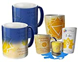 Taza mágica que incluye una taza, infusión, vela Chakra Plexus solar, al contacto con la bebida caliente, la taza se ilumina asociada a los beneficios del té.